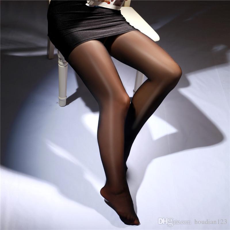 فتح جوارب جديدة شفافة الزيتية مثير جوارب مفتوحة إغراء جنسي الملابس الداخلية مثير الجنس لعب الكبار