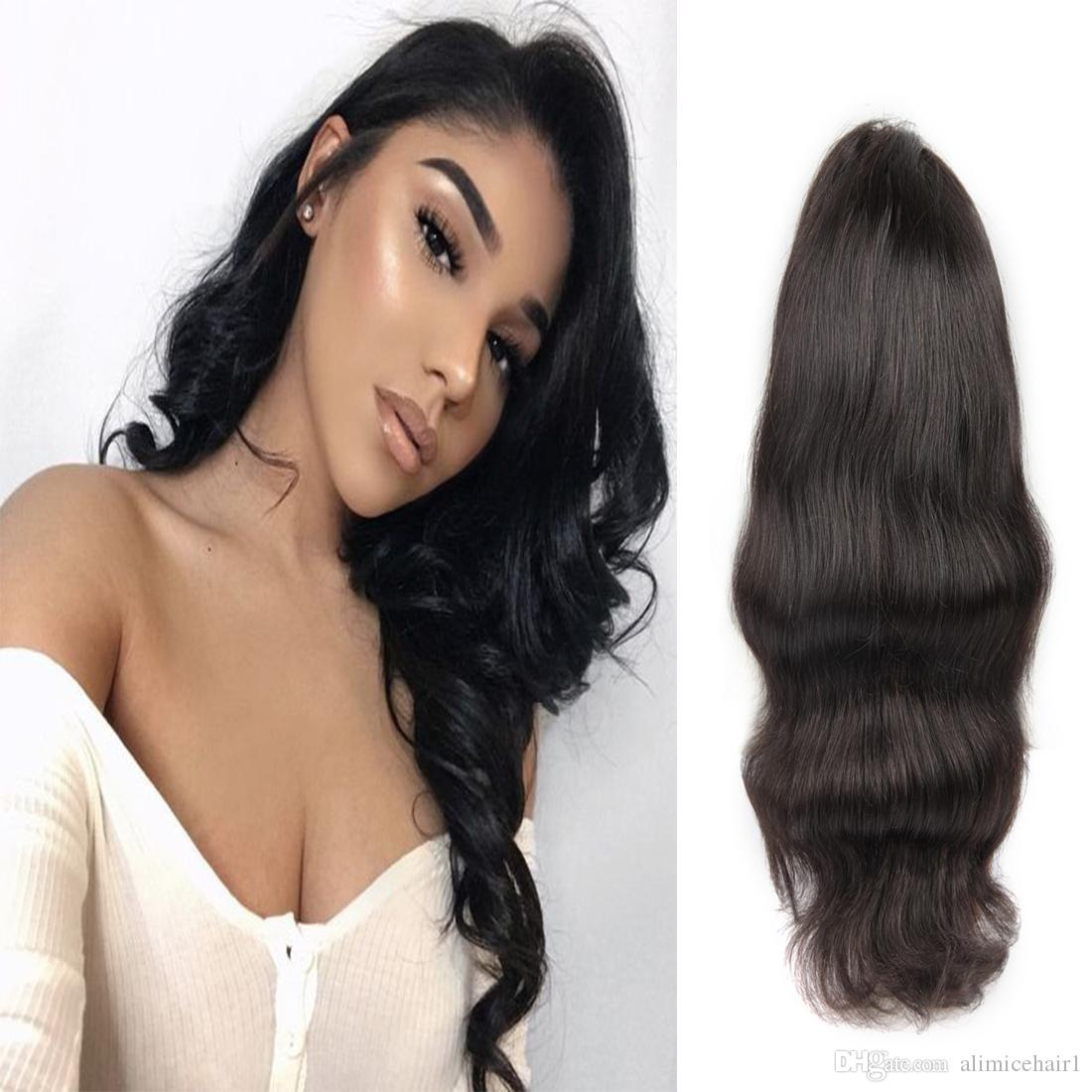 Laflare Hair Product Peruvian 360 Lace Front Virgin Body Wave Soft Human Hair Wigs For Black Women On Sale