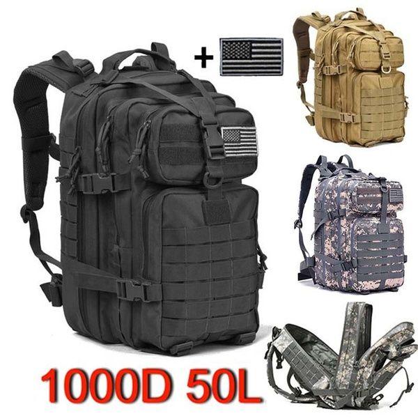 Prospo 40L Sac /à Dos Tactique Militaire Molle Sac /à bandouli/ère Sac /à Dos Assault Lot Sac /à Dos Camping Trekking Chasse P/êche