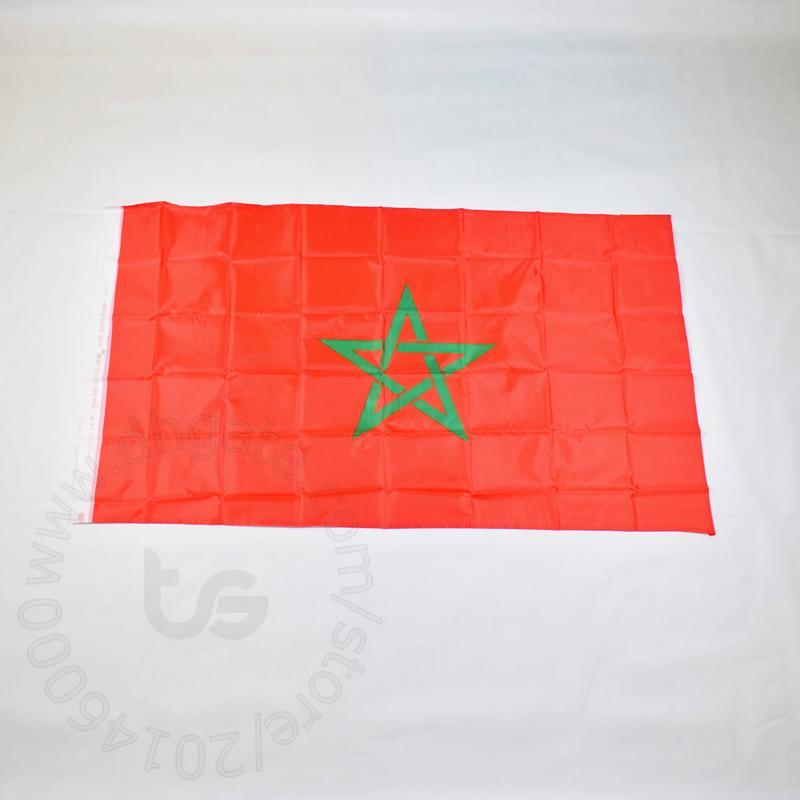 모로코 배너 국기 무료 배송 3X5 FT / 90 * 150cm 매달려 국기 모로코 홈 장식 플래그 배너