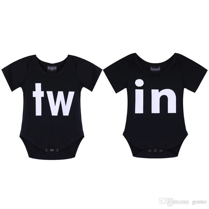 Yaz Yenidoğan Bebek Aile Eşleşen Giyim Kısa Kollu Mektuplar Romper Çocuk Giyim Tulum Giysileri