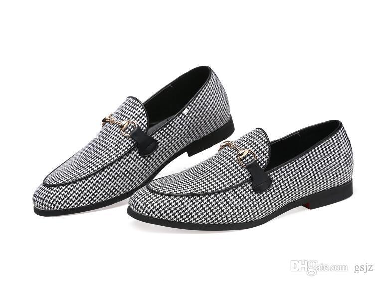 2019 Scarpe da ufficio da uomo di lusso da uomo in pelle stile italiano Scarpe casual da uomo slip in pelle derby scarpe eleganti S613