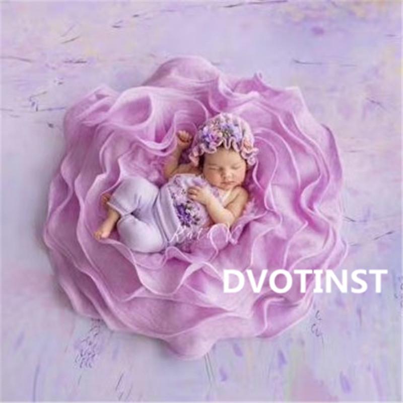 새 신생아 아기 사진 소품 양모 배경 식물 담요 매트 사진 액세서리 스튜디오 촬영 사진 소품