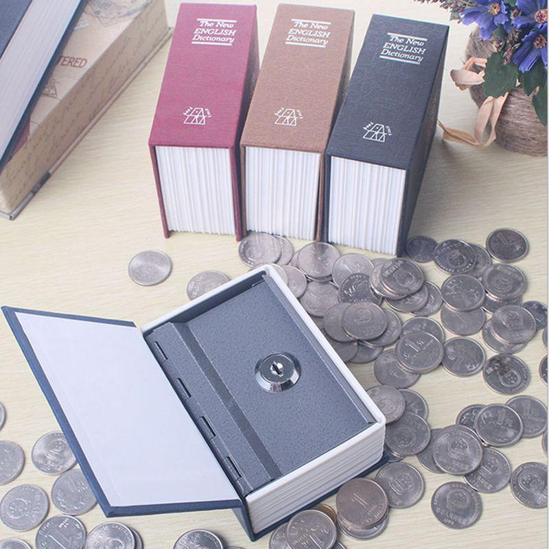 11.5x8x4.5cm Mini Book Safe Box Money Hidden Secret Security Safe Key Lock Cash Money Coin Storage Jewellery Locker For Kid Gift