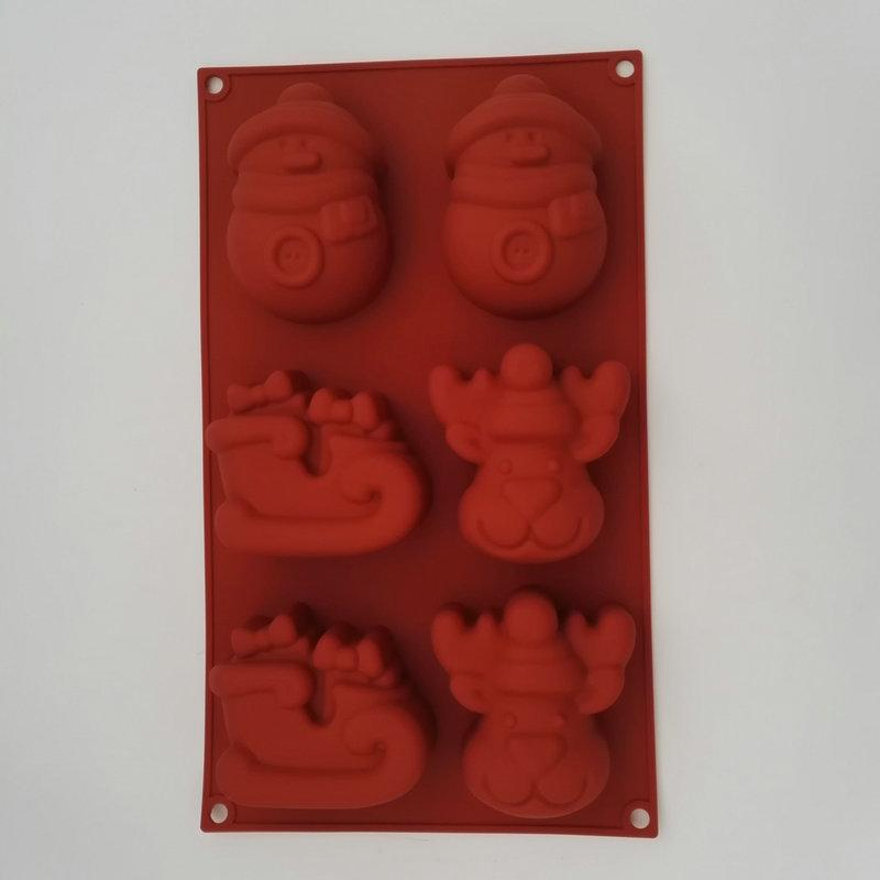 wholesale Christmas Silicone Mold for Soap Handmade Chocolate Pudding Jelly Mould Cake Tools