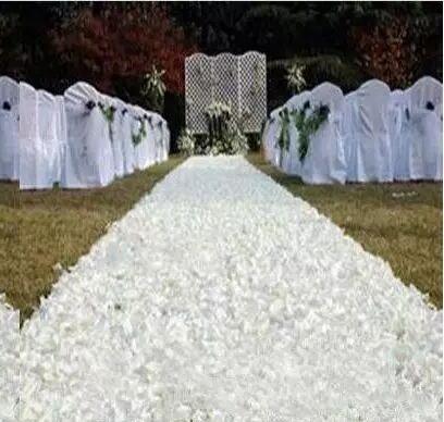10 m / lot 1,4 m Largeur Romantique Blanc Rose Pétale 3D Tapis Aisle Runner pour le mariage Favors Backdrop Centerpieces Décoration Réceptions