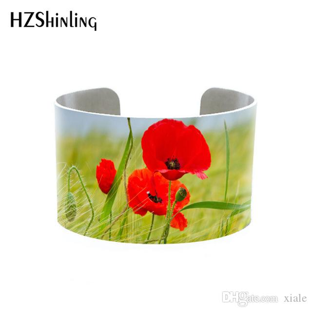 Poppy Jewellery Botanical Cuff Bracelet Brushed Silver Bangle