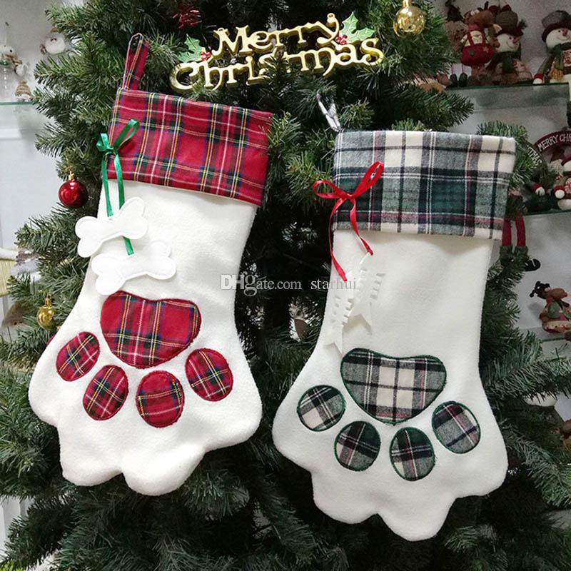 개 펜 양말 스타킹 양말 선물 포장 가방에 대 한 크리스마스 펜 던 트 장식 크리스마스 홈 장식 18 * 11 인치 WX9-817
