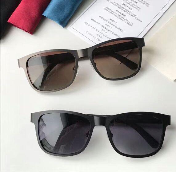 Com 2247s Square Sport Metal 2247 Homens negros de borracha óculos de sol lente cinza polarizado 56mm novo caso fosco BQXBU