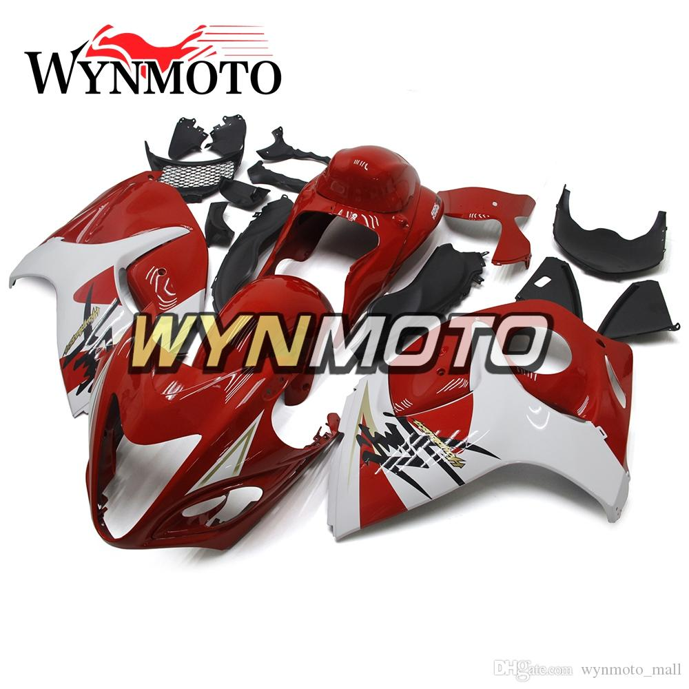 Red White Hulls Body Covers For Suzuki Year 2008 2009 2010 GSXR1300 Hayabusa ABS Injection Bodywork New Abs Fairings