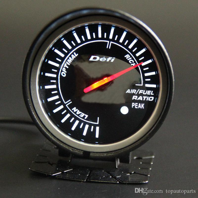 Universal Auto Red Led Air//Fuel Ratio Car Motor Gauge Meter Smoke Len