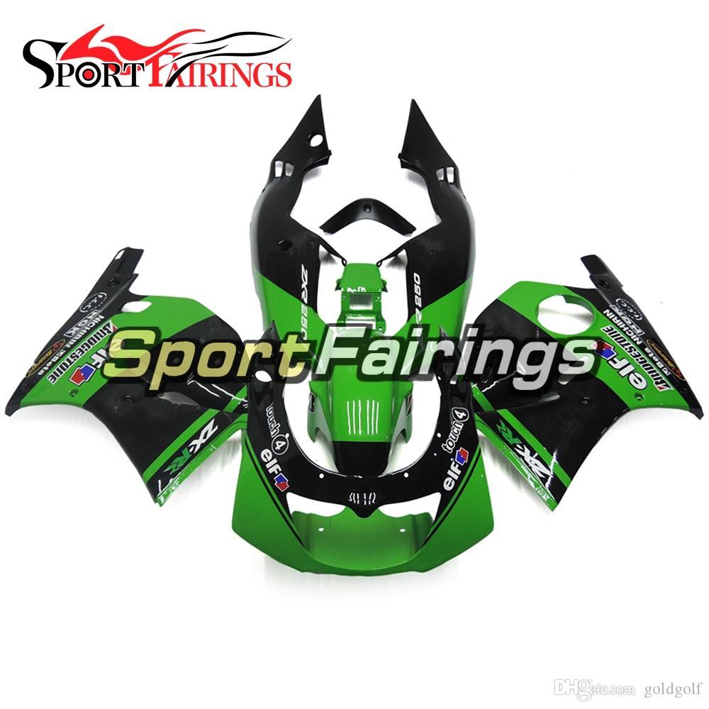 New Arrival Green Black Full Fairing Kit For Kawasaki ZXR250 92 93 94 95 96 ZXR-250 1991 - 1997 Bodywork ABS Plastics Body Kit