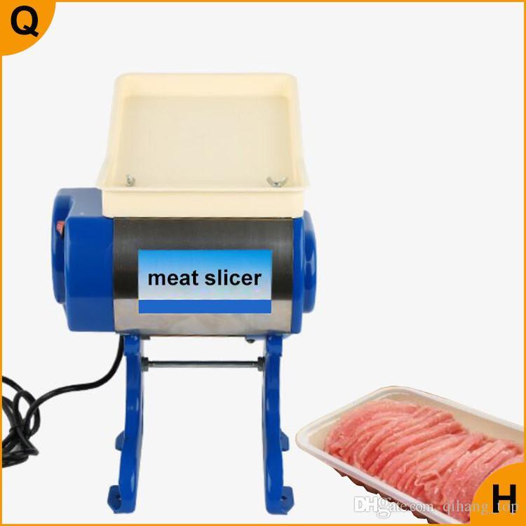 Qihang_top Lebensmittelverarbeitung elektrisches Fleisch Schneiden Schneidemaschine Tragbare Gewerbliche Fleischschneider Slicer
