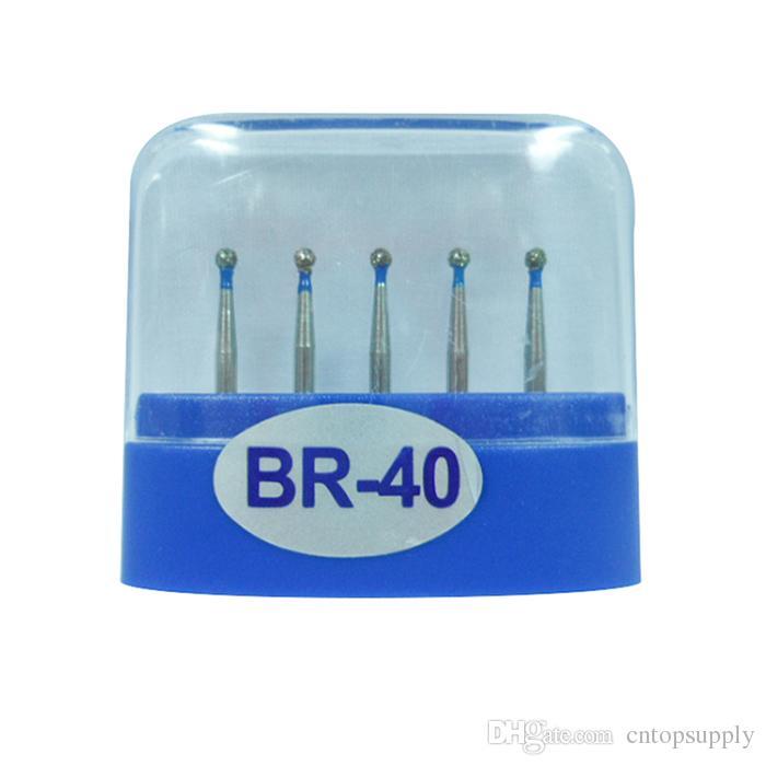 1 paquet (5pcs) fraises diamantées dentaires BR-40 moyen FG 1.6M pour pièce à main dentaire haute vitesse nombreux modèles disponibles