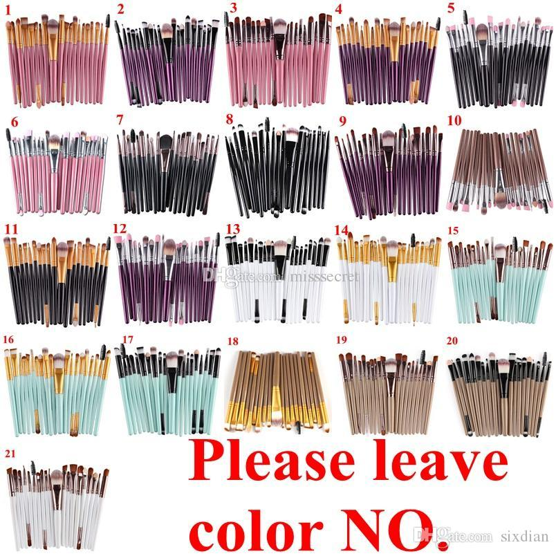 20 Stücke Kosmetik Make-Up Pinsel Set Powder Foundation Lidschatten Eyeliner Lip Pinsel Werkzeug Marke Bilden Pinsel schönheit werkzeuge pincel maquiagem