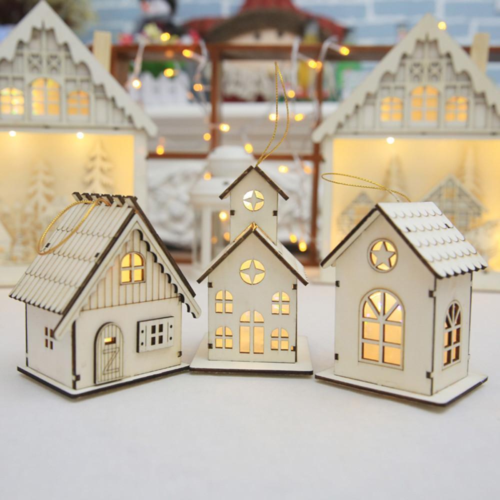 Nouvel an Noël Led Lumineux Cabines Pendentif Table Cabines Pendentif Ornements décoration de noël pour la maison enfeite de natal Y18102609