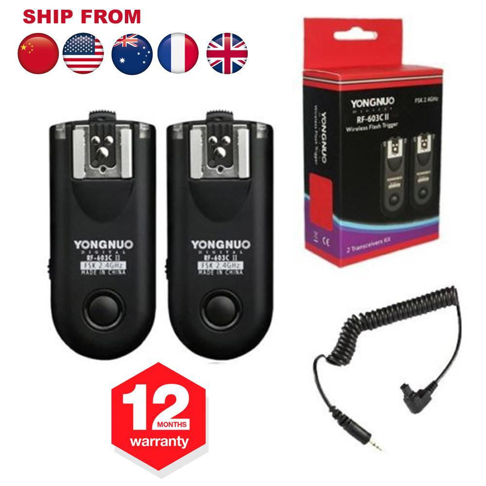 wholesale RF603 RF-603C II C3 Wireless Flash Trigger Transceiver For Canon Camera 1D 1DS 5D Mark II 7D 7DII 6D 10D 20D 30D 40D 50D