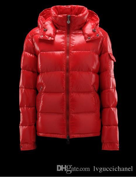 Mode Marque Hiver Hommes Outdoor Maya Shiny Matte Down Jacket Mens Casual Manteaux à capuchon vers le bas-vêtement homme chaud Parkas S-3XL