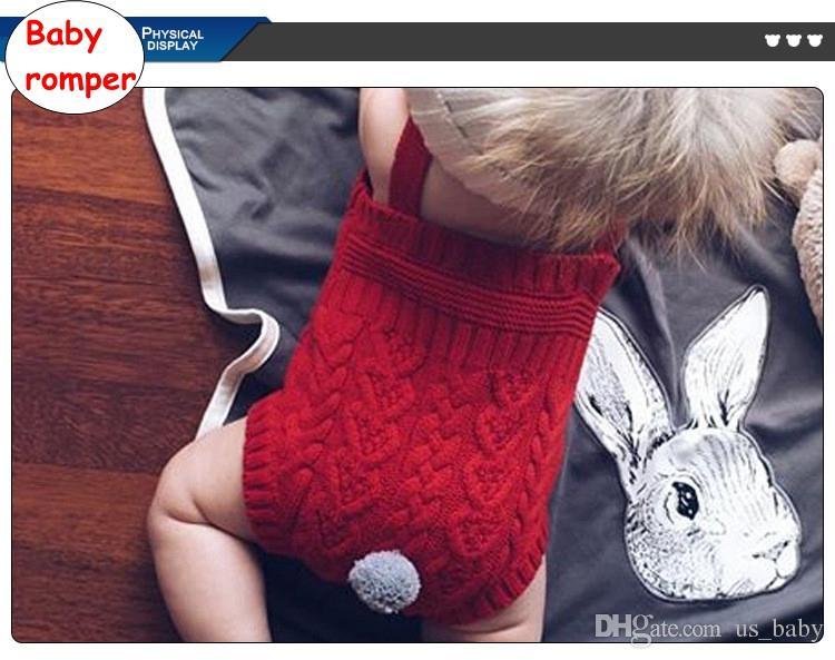 INS Bebek Düz renk Tulum Bebek örme Romper ile kuyruk Yenidoğan kolsuz Sonbahar Kış bodysuit 3 renkler 4 boyutu