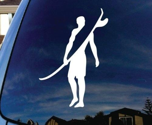 """Car Styling For Surfer Surfing Wave Car Window Vinyl Decal Sticker 5"""" Tall"""