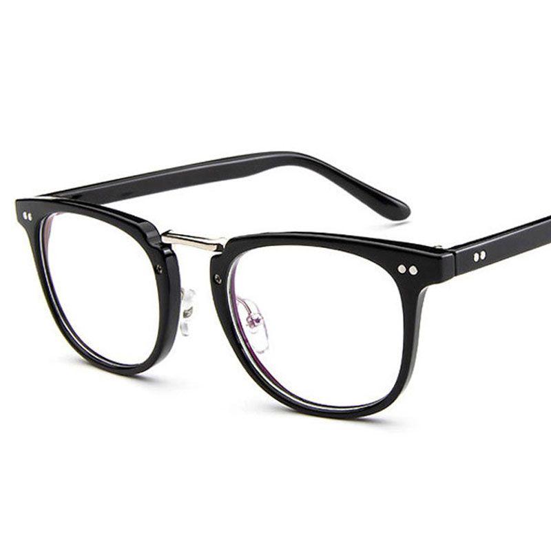 Мода квадратные очки рамка мужчины 2020 высокое качество рецепт глаз оптические заклепки очки рамка ретро женщины очки Очки
