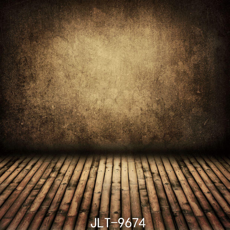 Pared gris suelo de madera boda niños fondos de vinilo Fotografía personalizada foto Prop Telón de fondo 5X7ft