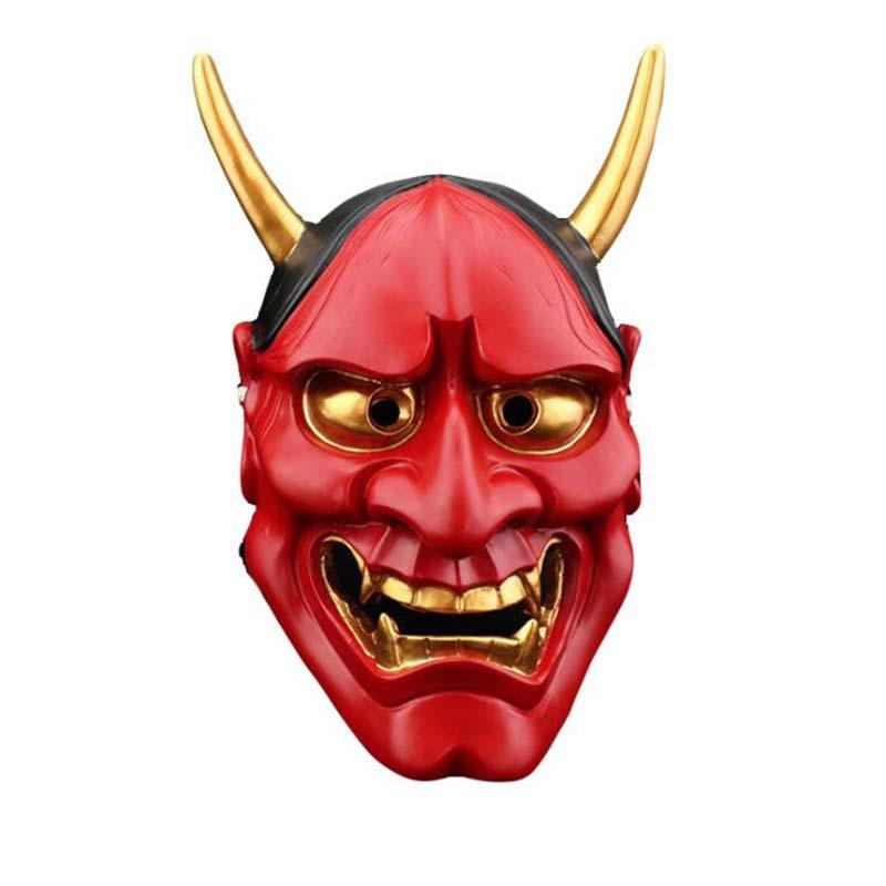 1 pc Grande 18 * 30 cm Resina Budista Japonês Mal Oni Noh Hannya Máscara de Halloween Cosplay Dança Máscara Do Partido 4 Cores
