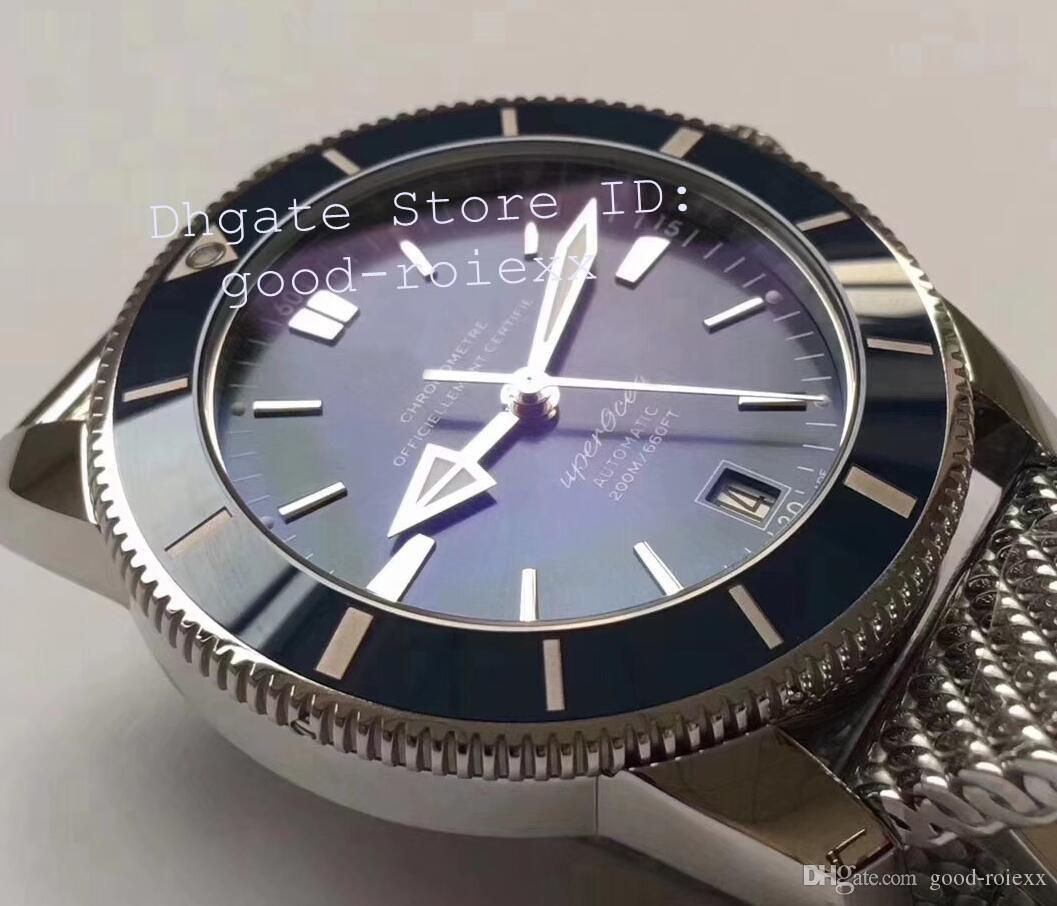 Men's Automatic Miyota Cal.9015 Movement Watch Men Blue Ceramic Bezel Date Adventure Discovery Steel Sport 60 Years GF Eta Factory Watches