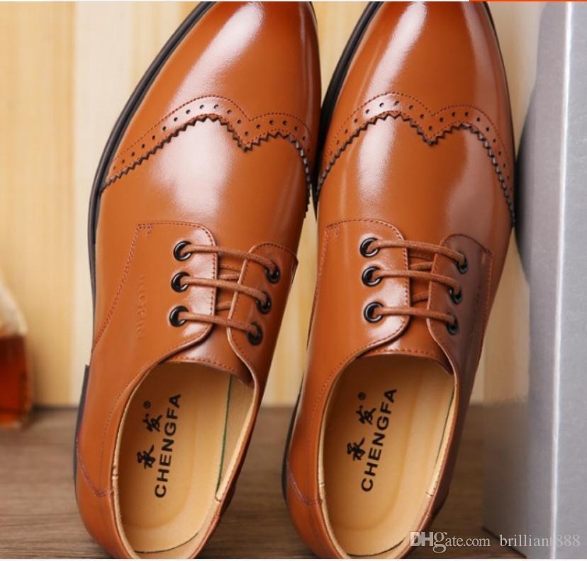 무료 2018 봄과 가을에 새로운 스타일 둥근 머리 로우 힐 공식적인 마모 남성 신발을 보내