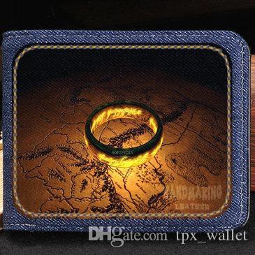 Yüzüklerin Efendisi cüzdan Fantastik çanta Serin kısa nakit not case Para notecase Deri çanta çanta Kart sahipleri