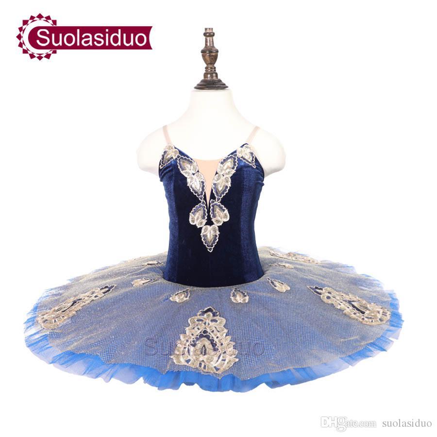 Childre Blue Professional Ballet Tutu The YAGP Performance Dancewear Kids Classical Ballet Dance Competition Costumes Adult Ballet Skirt