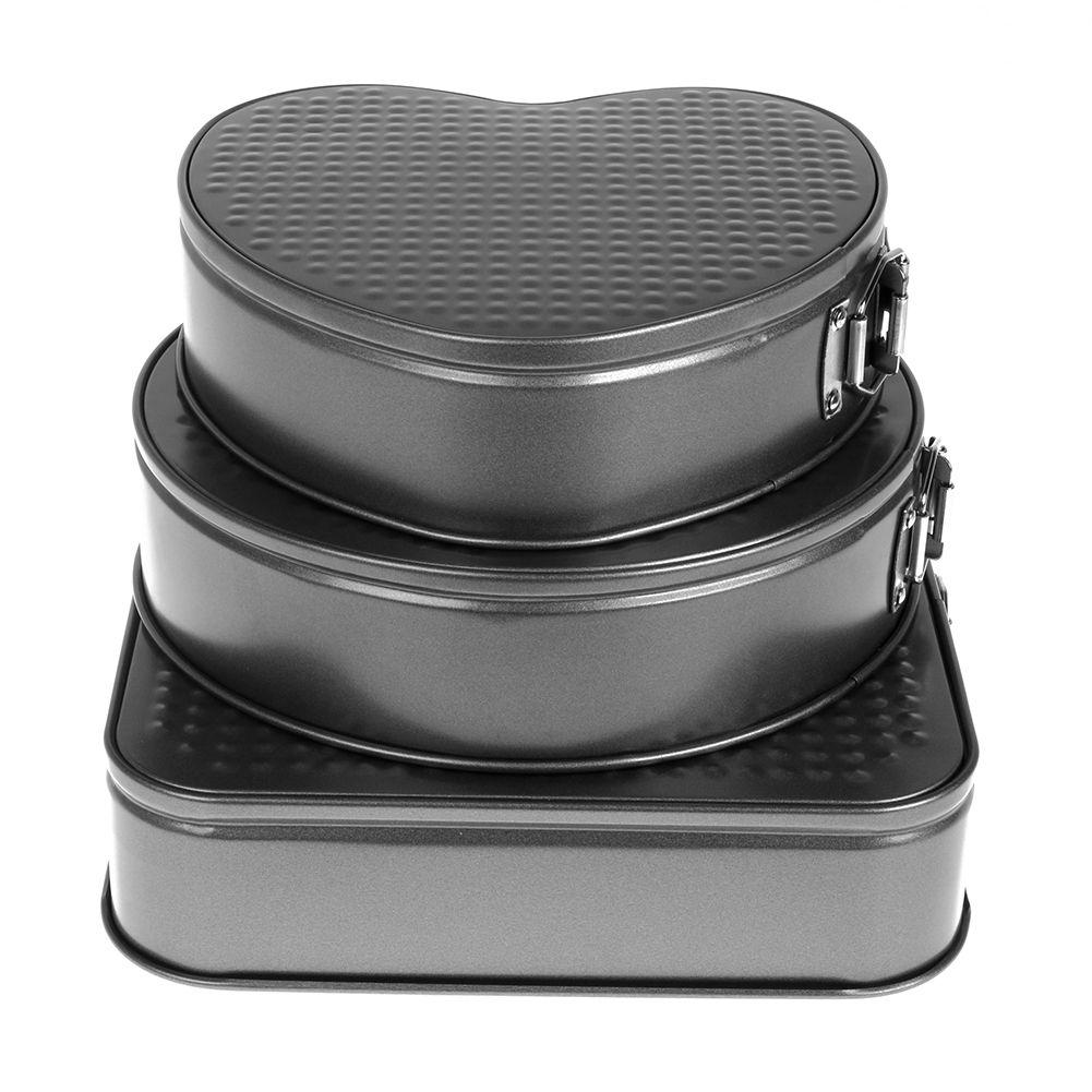 2 tlg 26//28cm Antihaft Backformen Springform Kuchen Torten Backformen Schwarz