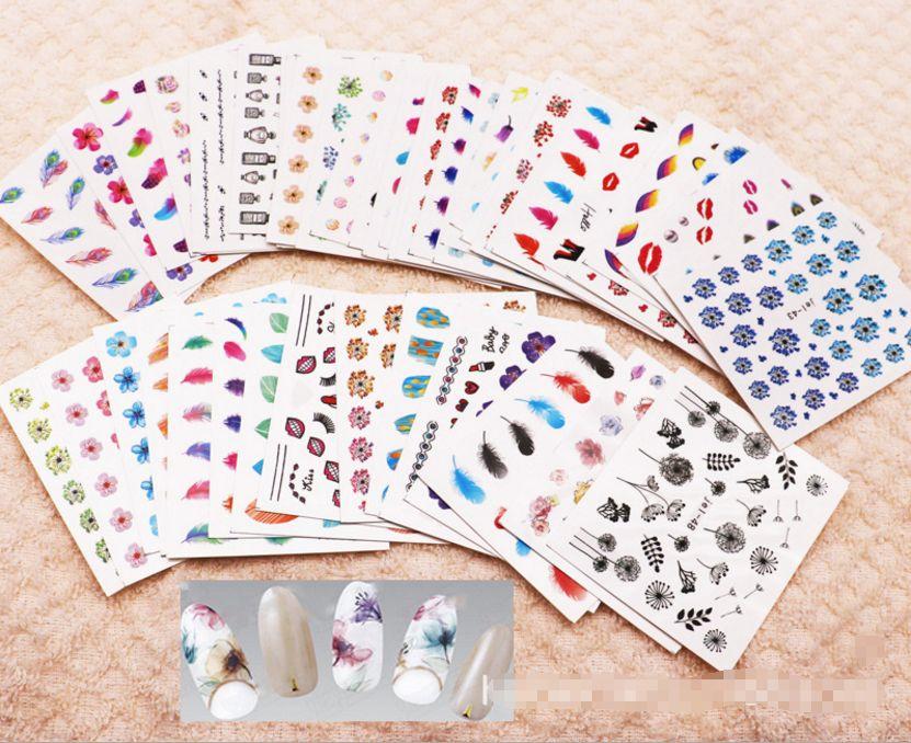 48 Sheets Mix Color Transfer Foil Nail Art flowers Sticker Decal For Polish Care DIY Universe Nail Art Decoretion