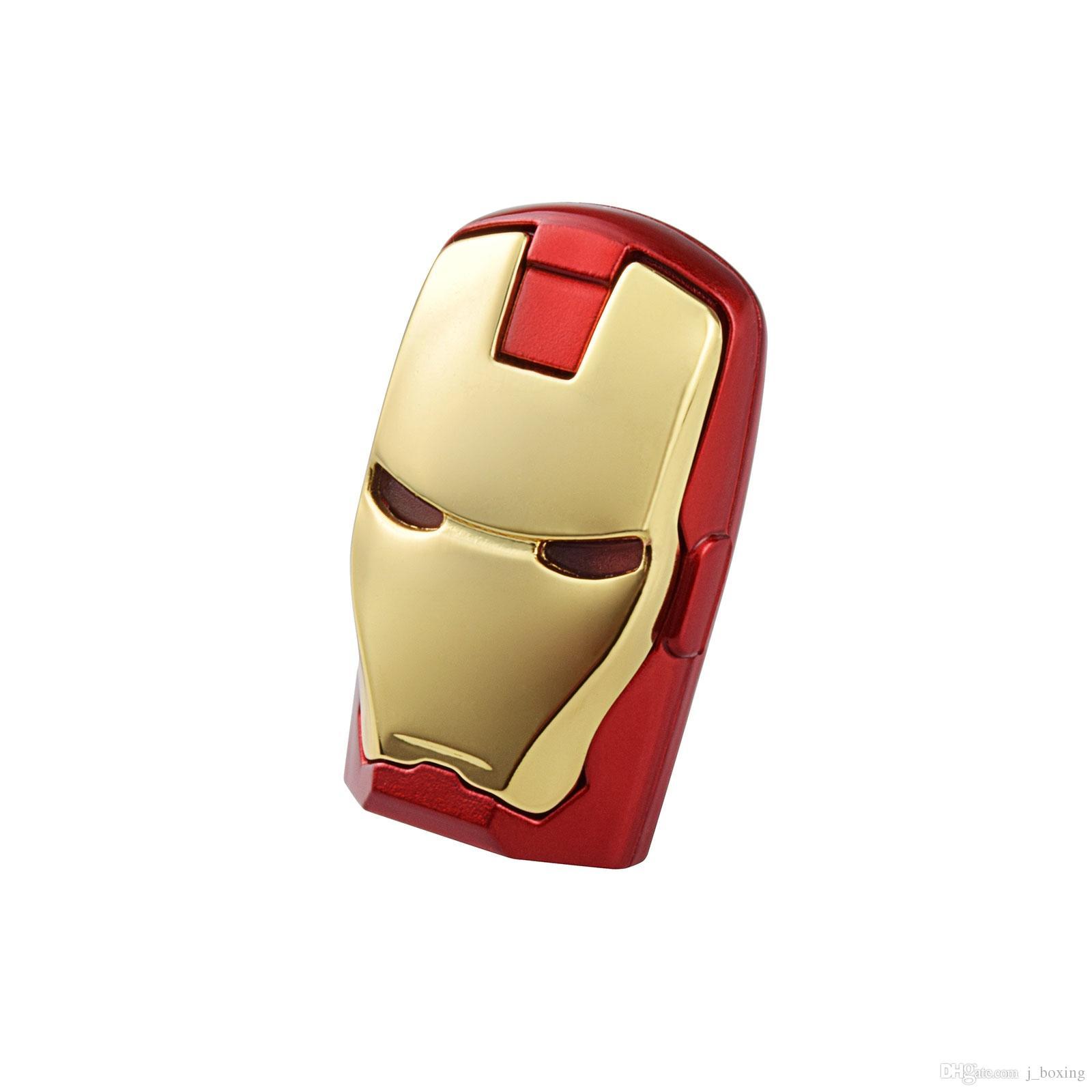 Free Shipping 10PCS/LOT 1GB LED Iron Man USB Flash Drives Thumb Pen Drives Storage for PC Laptop Tablet 1gb USB 2.0 Memory Stick Gold