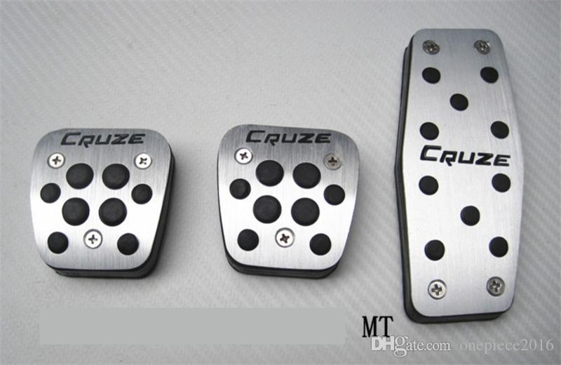 Авто аксессуары Алюминиевые педали автомобиля для педали акселератора Chevrolet Cruze Педаль тормоза Педаль FOOTREST