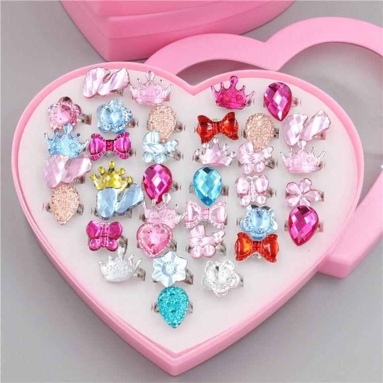 Koreanischer Kinderring der Karikatur reizender kleiner Ring, nachgemachtes Kristalldiamant mischte Schmucksachen, Großverkauf der verschiedenen Spezifikationen.