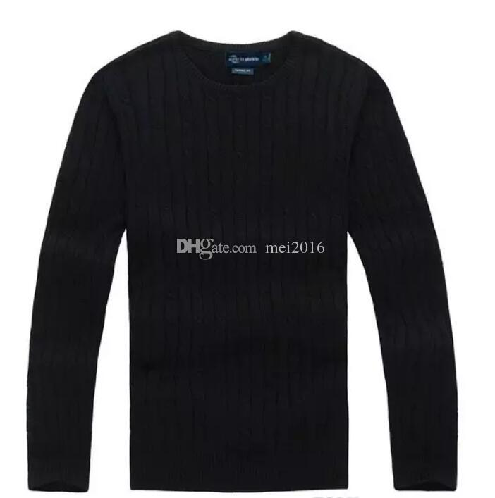 new high quality mile wile polo brand men's twist sweater knit cotton sweater jumper pullover sweater men S-XXL 13 Color