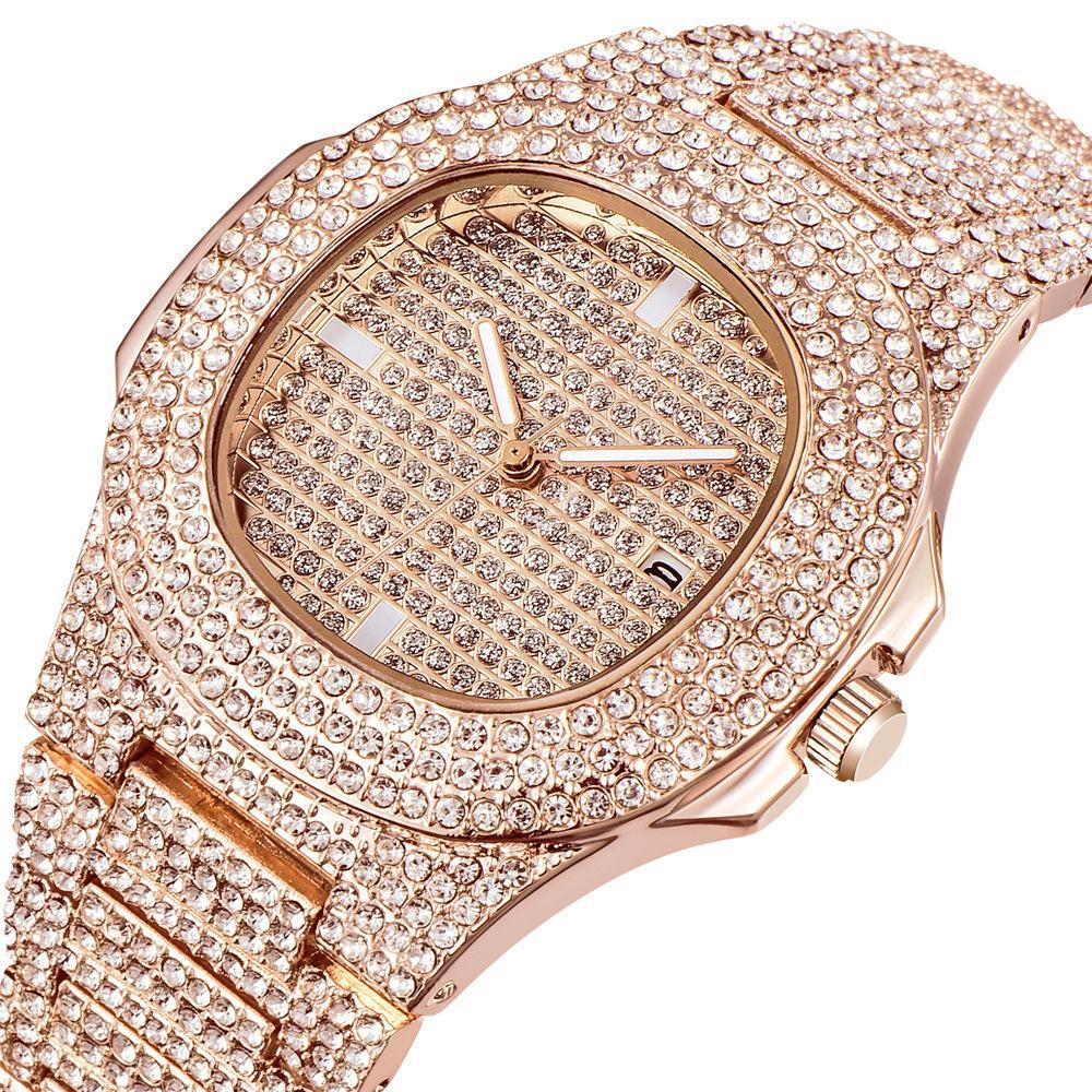 XINEW бренд Алмаз вставить мужской поверхности желание Моды сплава пояса кварцевые часы Наручные часы A911