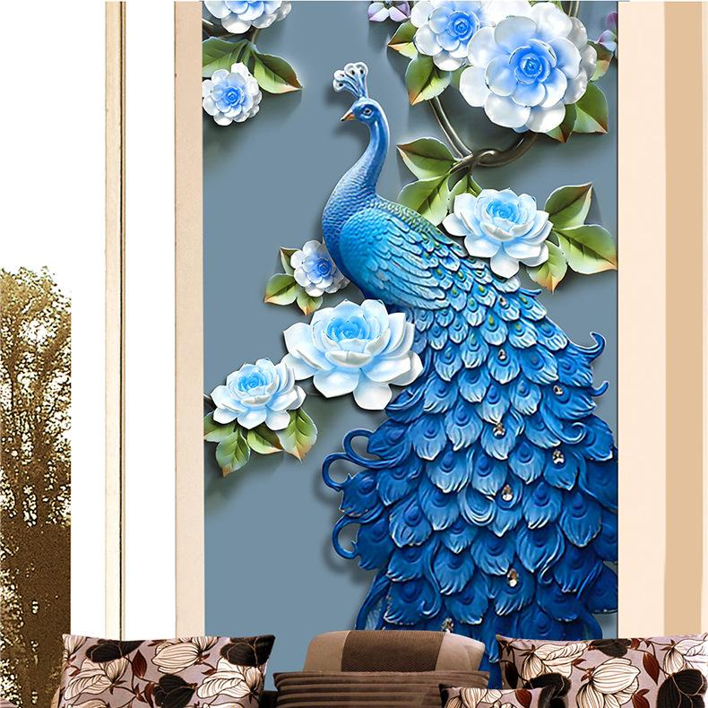 2020 New Pattern Peacock Diamonds Picture New Chinese Style