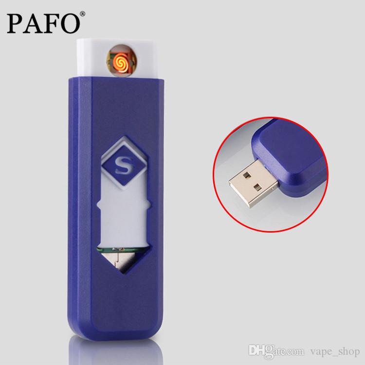 Smoking Accessories Rechargeable Flameless USB Charging Lighter Electronic Cigarette Lighters 1 PC Windproof Smokeless Nice Gift