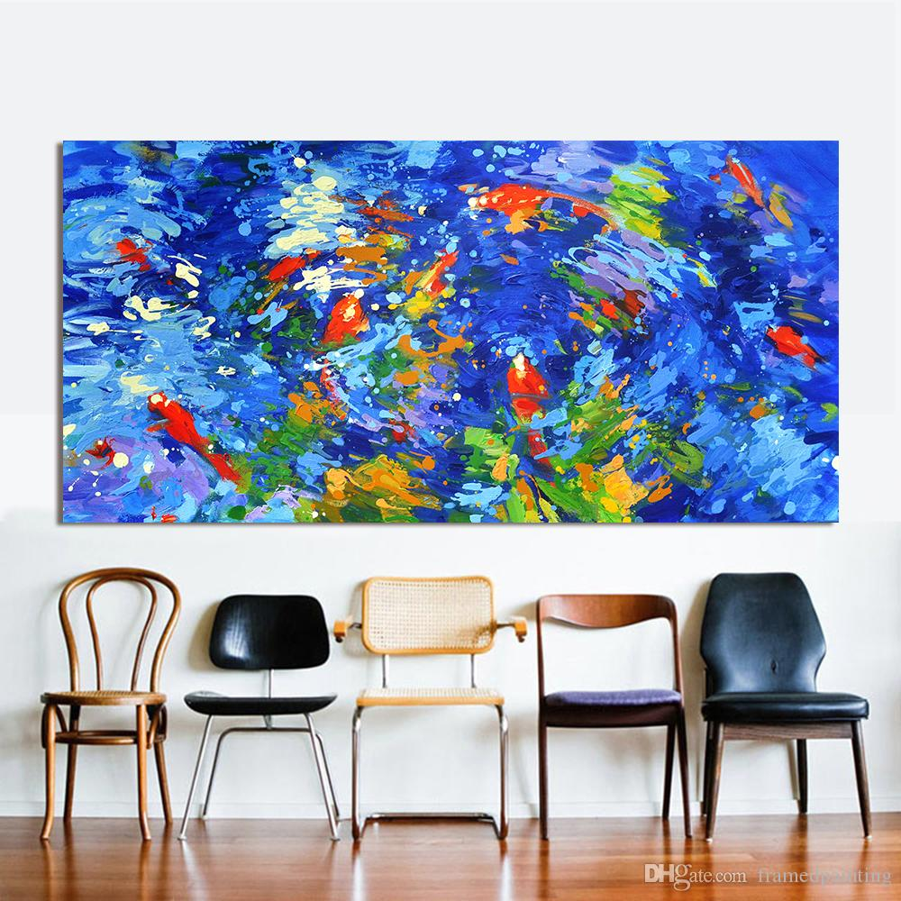 ABSTRACT FISH CANVAS PICTURE PRINT WALL HANGING ART HOME DECOR FREE DELIVERY