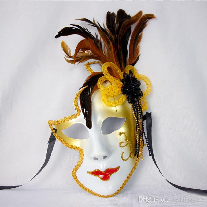 Venecia Máscara de Halloween Máscara femenina Regalos personales Payaso Masquaerades Italia Estilo de Venecia Máscaras completas para Fiestas / Fiesta