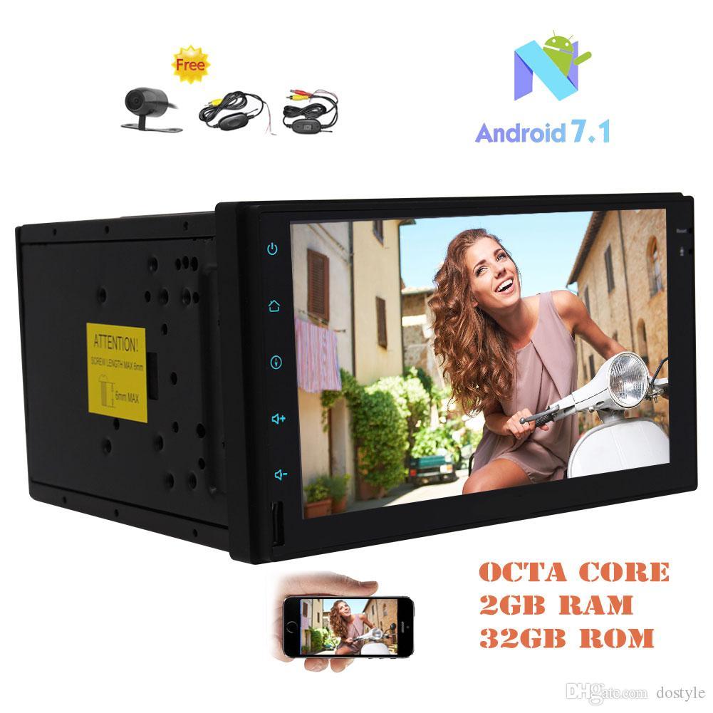 "Eincar Android 7.1 Octa-core 2GB&32GB Car Stereo Double Din 7"" Capacitive TouchScreen In Dash GPS Navi FM/AM RDS Radio Receiver HeadUnit"