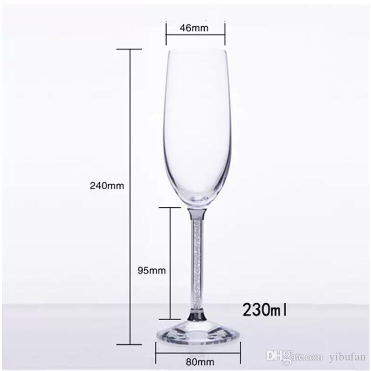 Champagne Glass Flutes Perfect for Wedding Gifts Set of 2 Luxury K9 Crystal Toasting Flutes and Wine Glasses