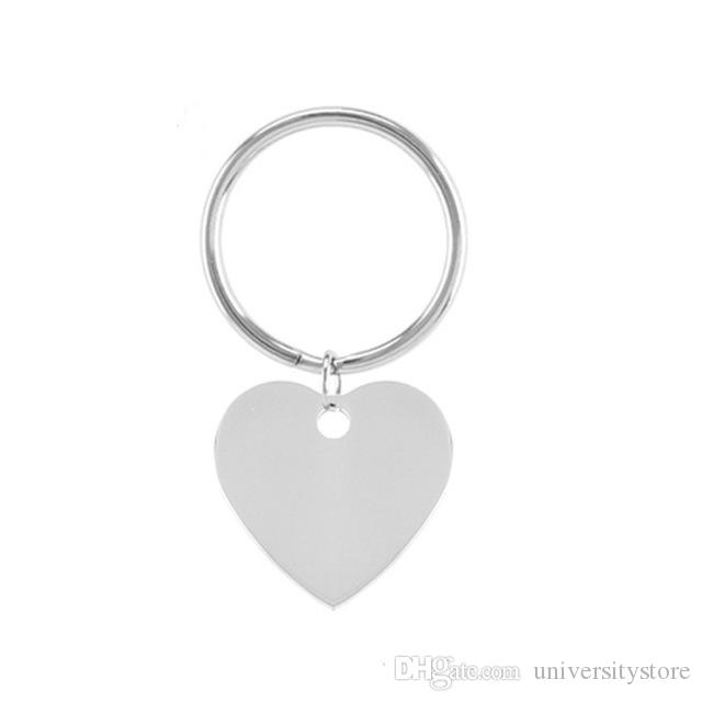 Heart 28mm Stainless Steel Blank Charm Connection Metal Key Ring Key Chain Key Fob Accessories holder Creative Gifts