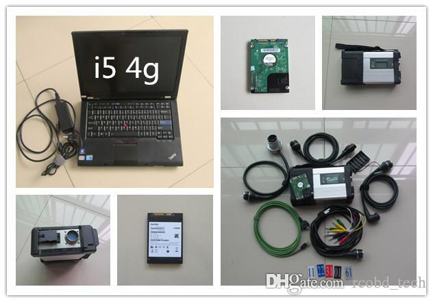 ЗВЕЗДА MB c5 диагностических инструментов с ноутбуком T410 i7 4g супер новейшим Xentry дасом ЕРС НЖМД установлен готовыми к использованию
