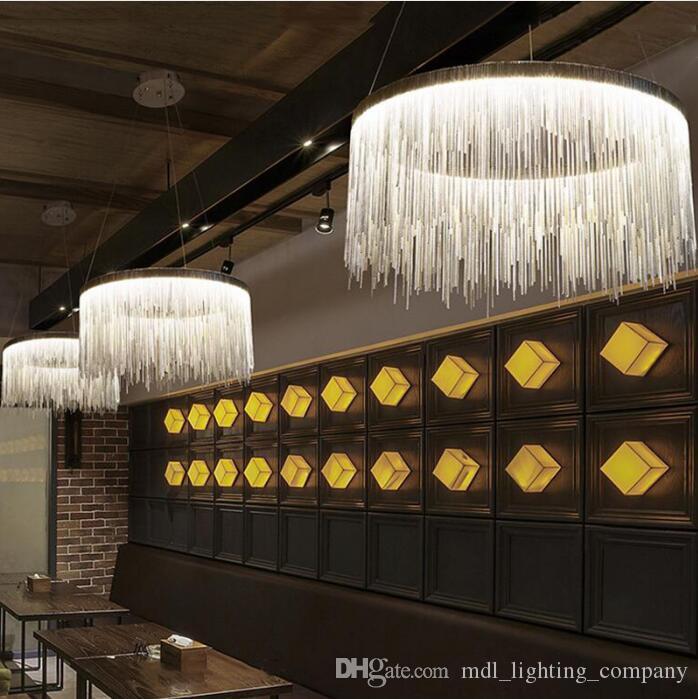 Soggiorno Lampadario moderno LED Ristorante Chandelier Villa Clubhouse Lighting Designer Creativo Modello Camera catena leggera