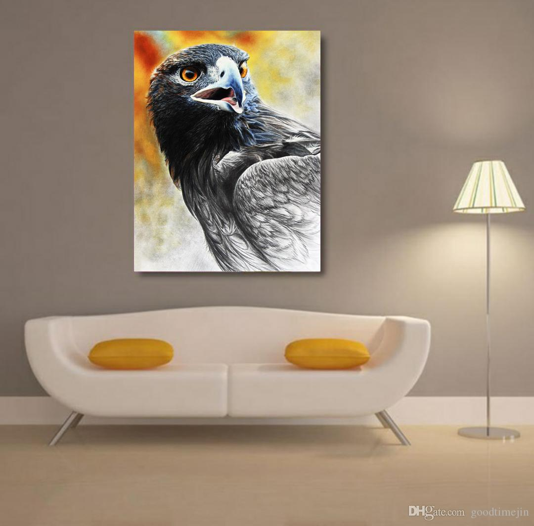 5D DIY handmade eagle diamond painting color painting color cross embroidery home living room and room decoration