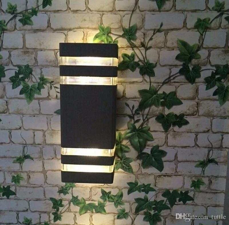 Schnelles Verschiffen im Freien imprägniern LED-Wand-Lampen IP65 AC90-260V mit 2pcs * 5W LED Birnen-Aluminiumhof-Garten-Portal-Korridor-Lichtern