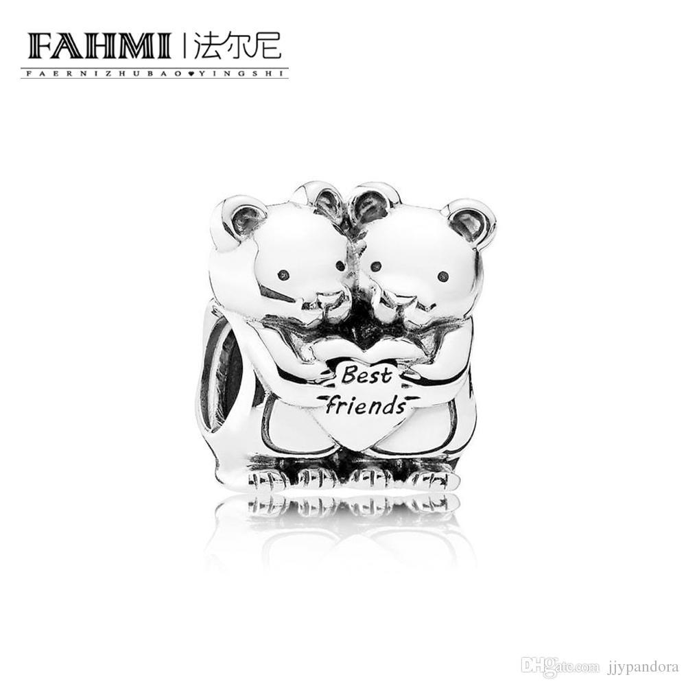 Fahmi 100% 925 Sterling Silver 1: 1 Oryginalny 792151 Autentyczne temperament Moda Glamour Retro Bead Wedding Women Jewelry